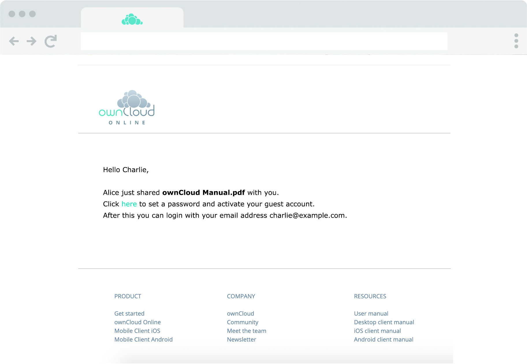 ownCloud.online - Guest accounts step 4