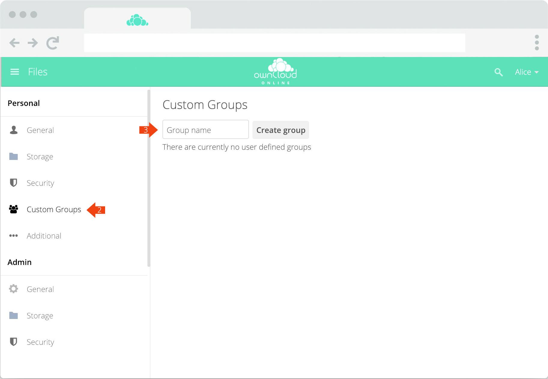 ownCloud.online - Teams step 2