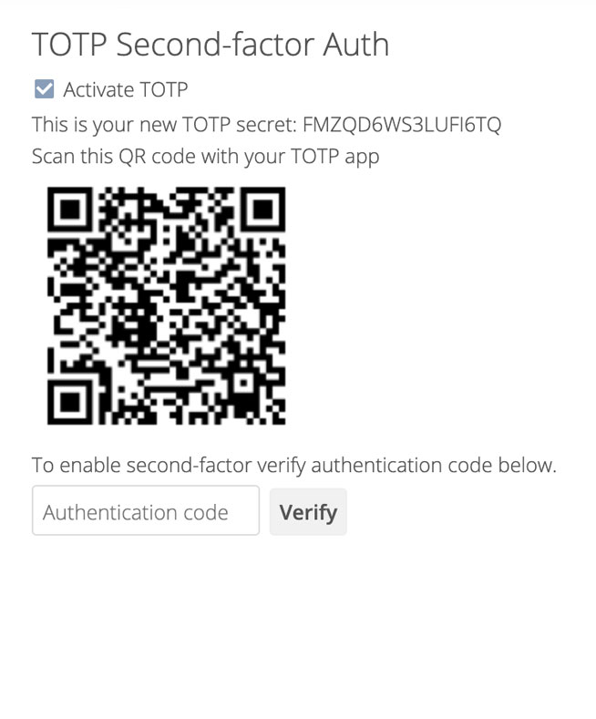 ownCloud.online feature Two-factor-authentication