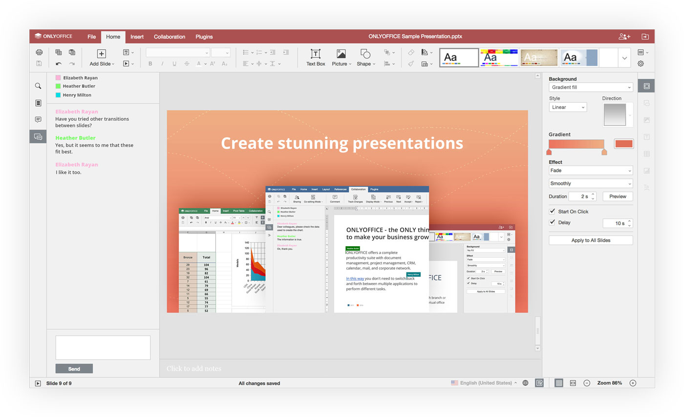 ownCloud.online - cloud office - create stunning presentations