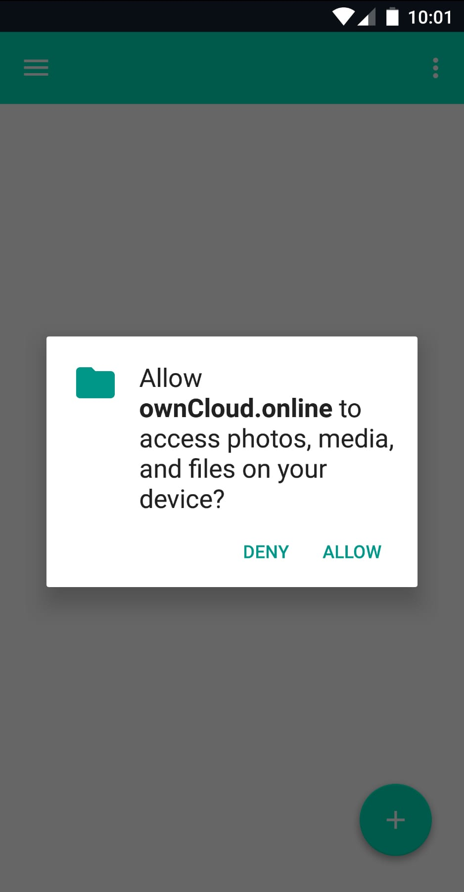 ownCloud.online Android Setup Step 2