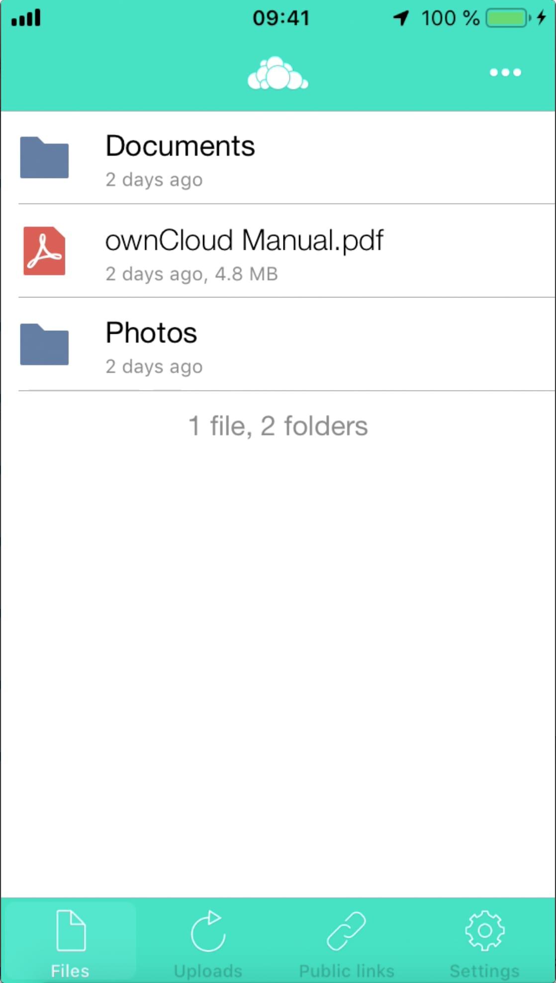 ownCloud.online iOS Setup Step 2